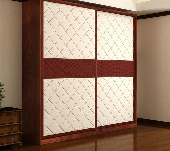 移门定做 推拉门衣柜定制 皮质软包 烤漆实木橱柜 百叶衣柜门订做