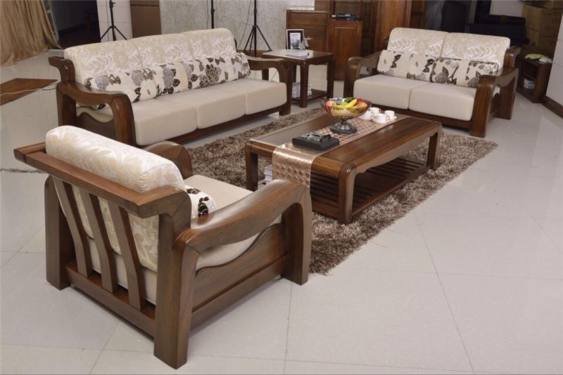 沃得家具 非洲胡桃木系列 实木沙发-9