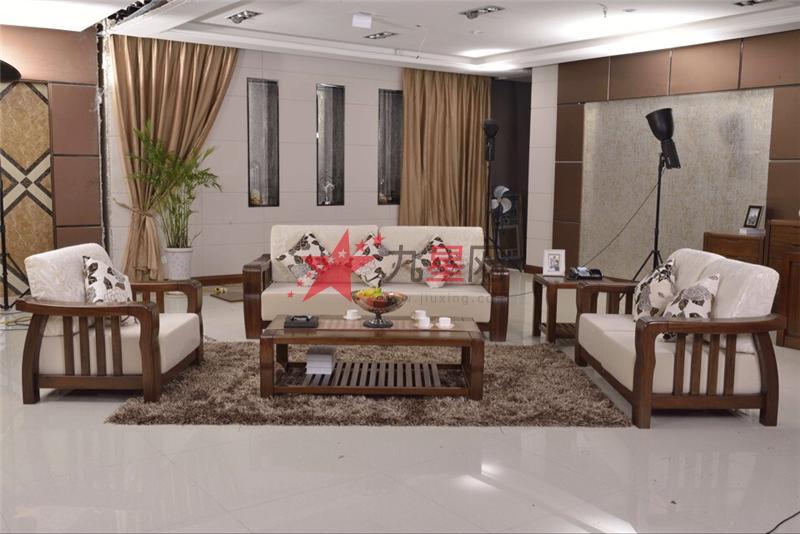 沃得家具 非洲胡桃木系列 实木沙发-5