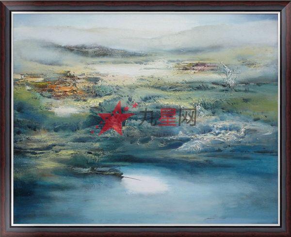油画 > 一夏一秋油画工作室原创抽象风景y13   装裱方式:油画内框加