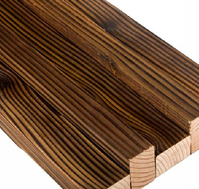 德丽斯炭化木 防腐木地板栅格 栈道龙骨进口实木板材