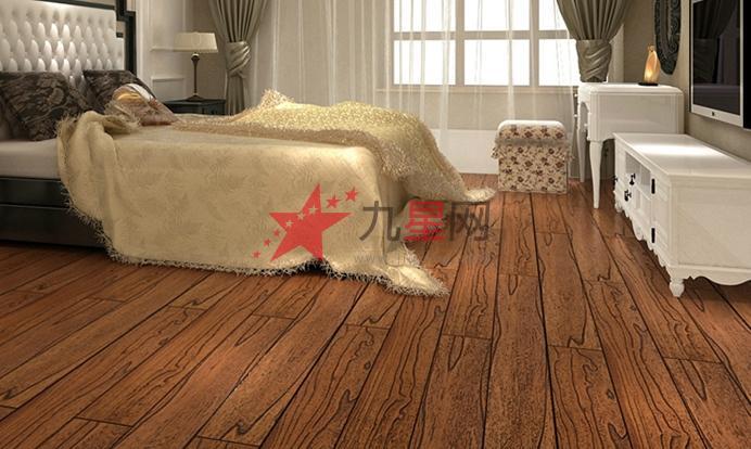 榆木ab板纯实木地板 原木色仿古卧室木地板