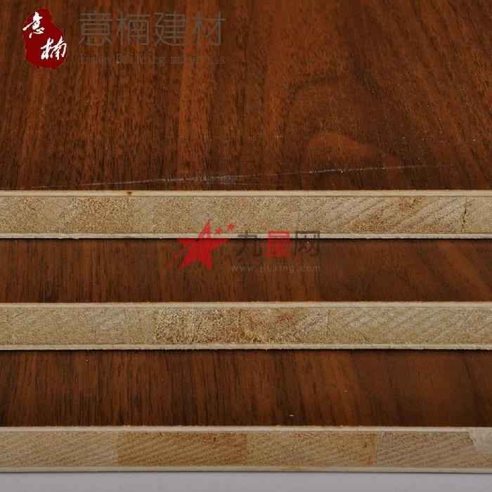 意楠建材 e1级18mm胡桃木 饰面板 免漆板 家具橱柜生态
