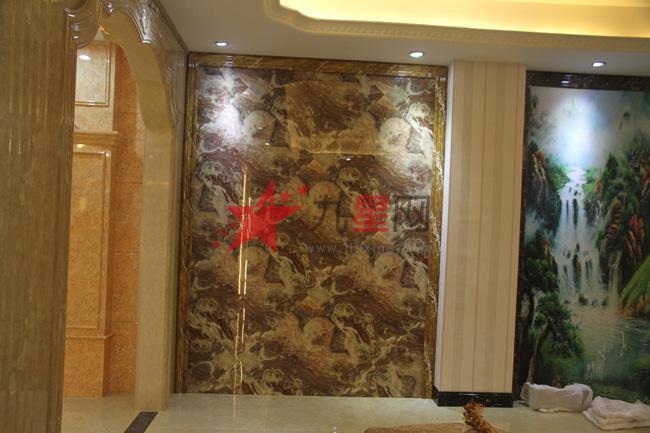 集成背景大理石罗马柱pvc装饰板人造大理石石塑线条
