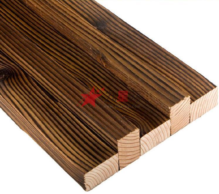 柯磊 花旗松碳炭化木 防腐木地板栅格 栈道龙骨进口实木板材50x30