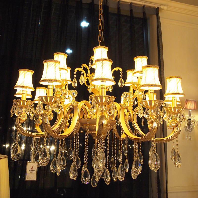 新雅典 蜡烛水晶灯 水晶吊坠 客厅装饰灯