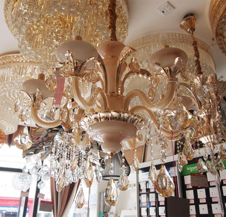 六头蜡烛水晶灯 客厅吊灯 水晶吊坠