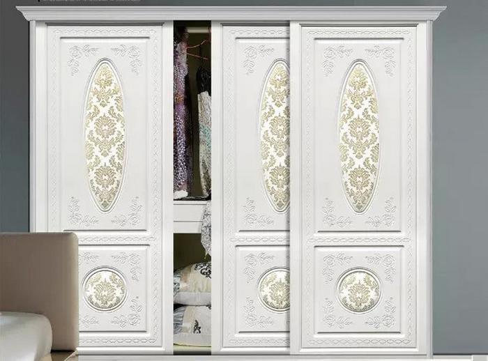 吸塑衣柜门定做雕刻移门定制欧式软包移门木质门推拉门订做