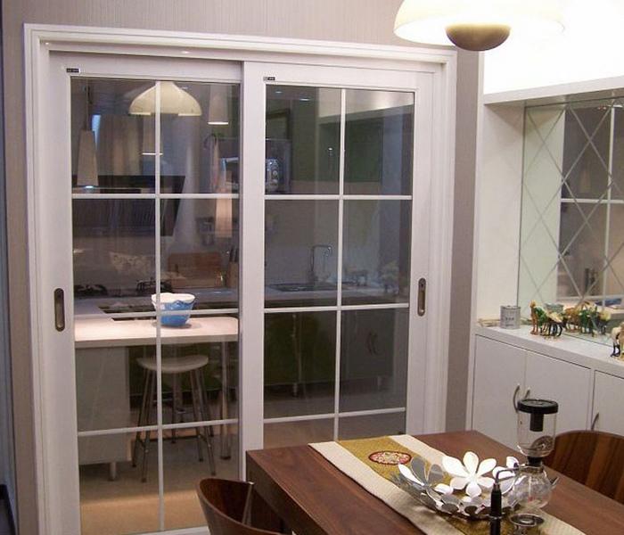门 壁橱式移门 > 客厅隔断推拉门阳台钛镁合金移门中空双层钢化玻璃