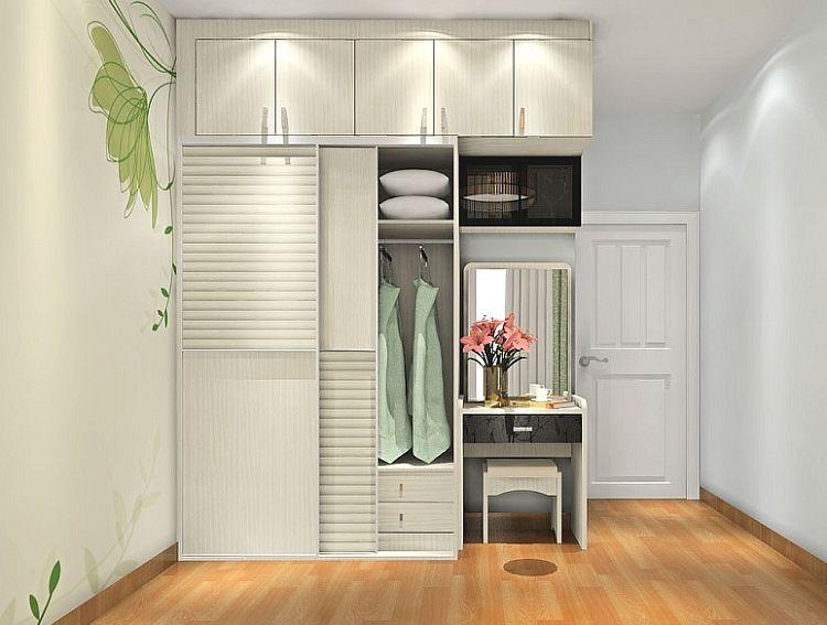 镓佳整体衣柜订制 欧式风 梳妆台组合衣柜定制 量身设计家具图片