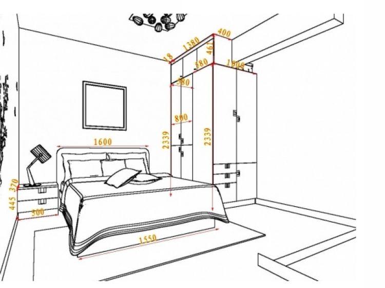 转角衣柜 地中海风格卧房 避梁置顶 360°无死角设计