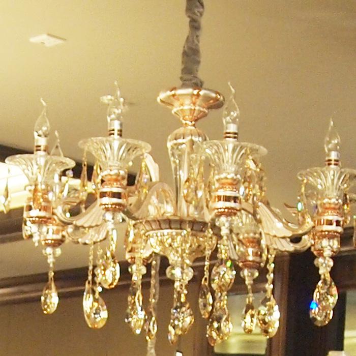 欧式风情 蜡烛水晶灯