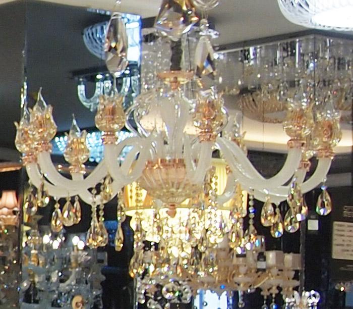 欧普照明 白色 蜡烛灯 水晶灯 吊灯 客厅灯