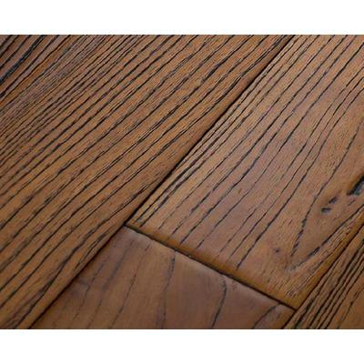 柚木仿古浮雕卧室木地板18mm