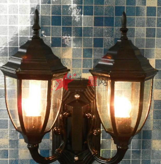 户外双头庭院壁灯现代欧式阳台灯花园走廊玄关灯露台