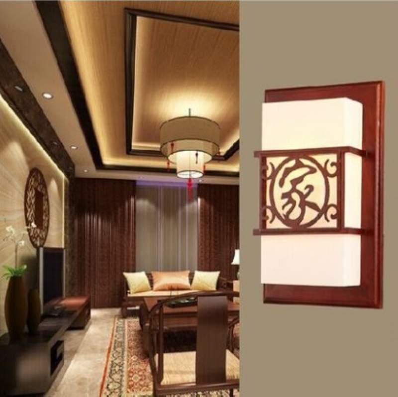 现代中式led客厅卧室壁灯床头灯楼梯过道灯简约创意