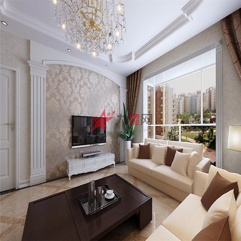 巧家装饰设计-简单欧式电视机背景墙