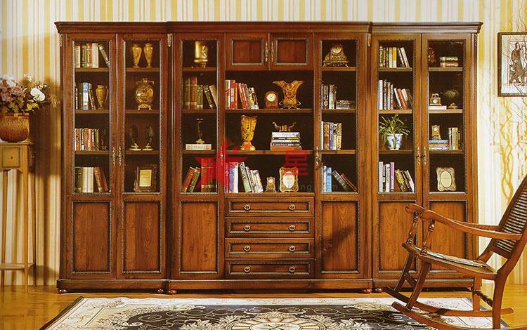 定做内外全实木衣柜 书柜图片