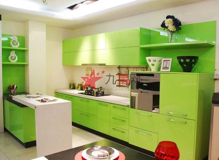 绿色玻璃橱柜门效果图大全