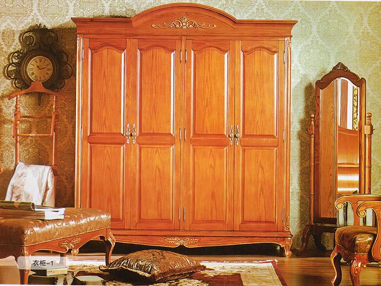 欧式衣柜款式1 法式 实木大衣柜实木储物柜定制