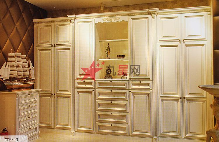 郑州欧式衣帽间衣柜实木衣柜储物柜玄关柜定制定做