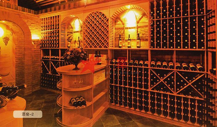 欧式定制原生酒窖 实木恒温酒柜壁挂