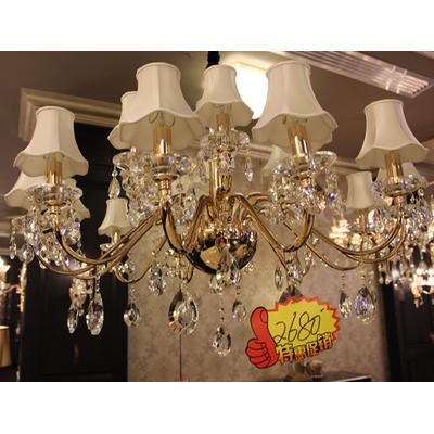 别墅欧式法式现代灯 蜡烛水晶吊灯