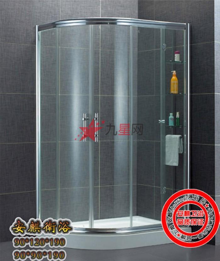 沐浴房 半圆/扇形淋浴房 > 安麒卫浴 高端安全 圆弧淋浴房 wl-6508