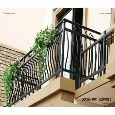 欧式铁艺楼梯扶手空调防护栏阁楼护栏别墅走廊栏杆