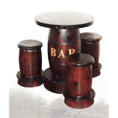 酒吧系列 小酒桶桌