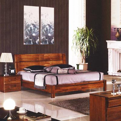 吉斯家具 8007胡桃木床 实木床双人床