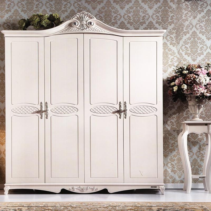 全友家居 法式罗曼尼玫瑰系列 65906四门衣柜 衣橱