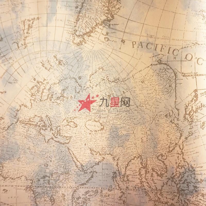 墙纸壁纸 客厅背景墙过道壁画 地中海风格 世界地图