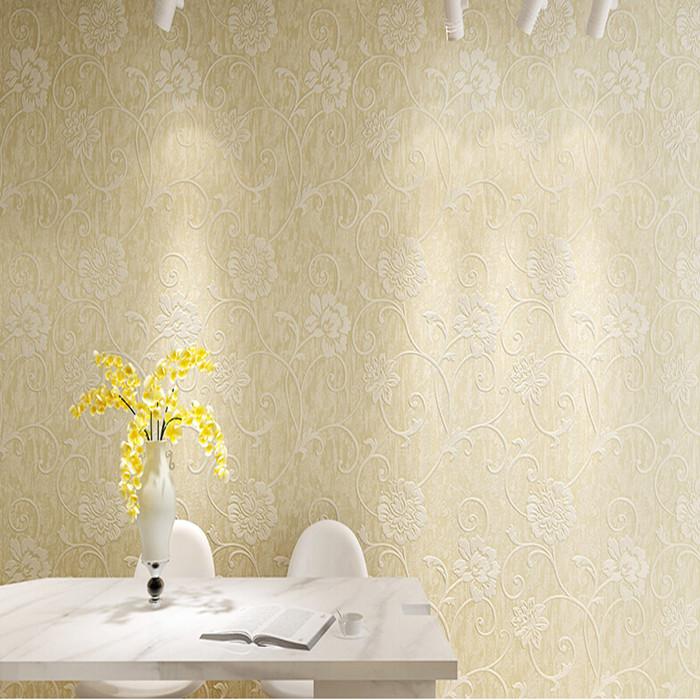 欧式壁纸 卧室客厅背景墙无纺布壁纸ms071202米白