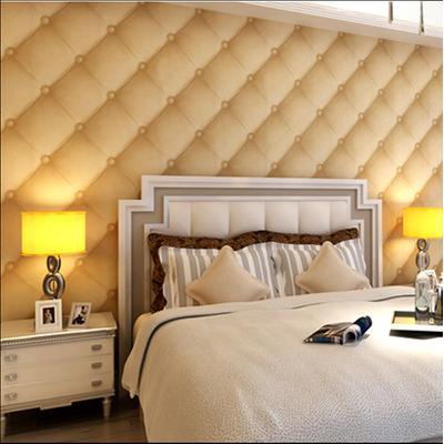 3d立体仿软包墙纸酒店宾馆背景墙壁纸