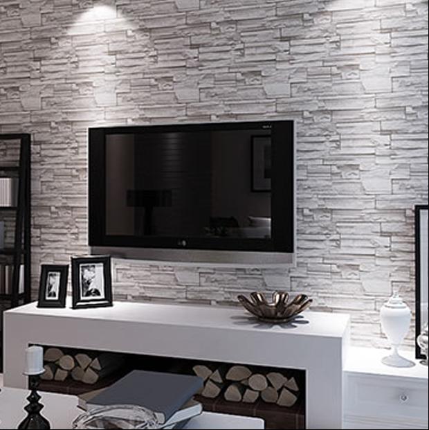 欧乐美居 3d仿真文化砖石 服装店 客厅餐厅酒吧吧台电视背景墙纸