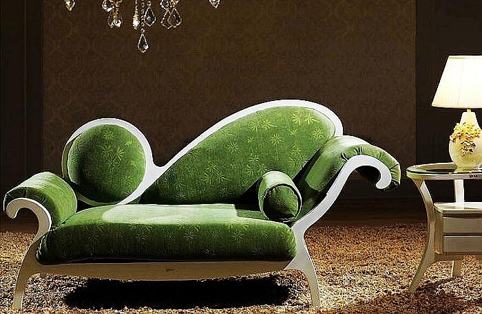 欧式古典单人真皮布艺实木小沙发躺椅太妃椅沙发椅贵妃椅m307