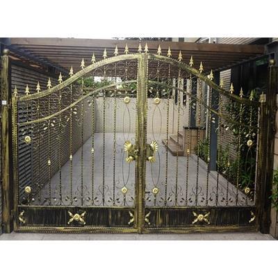鐵藝大門豪華別墅仿古庭院門雙開門圍墻歐式花園門花