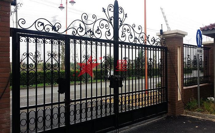 庭院大門院墻大鐵門小區大門歐式鐵藝大門別墅庭院門