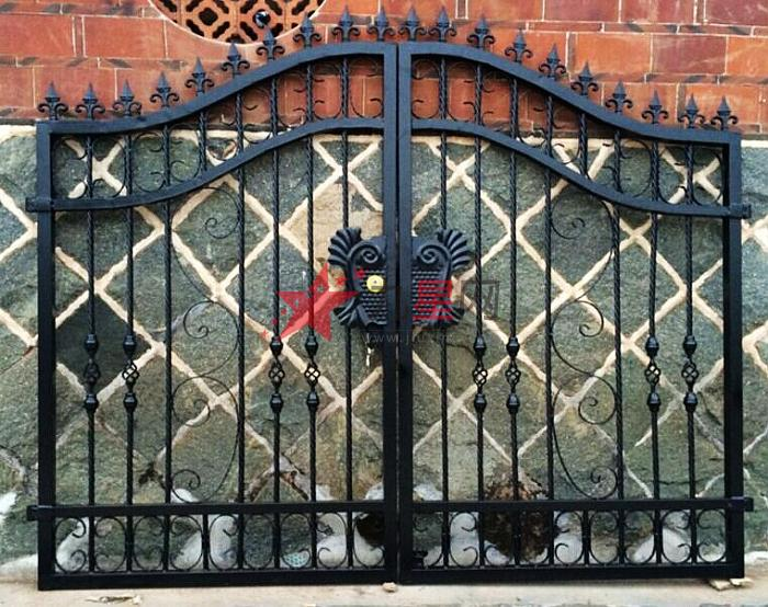 门庭院门入户门铁门防盗门方钢门花园别墅欧式门双开