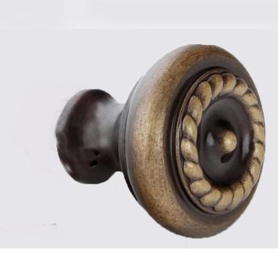 仿古纯铜全铜实心欧式球圆形单孔小拉手抽屉鞋衣橱柜金色门把手cl006