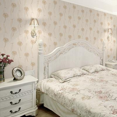 儿童蒲公英女孩墙纸 环保无纺布卧室田园温馨房间