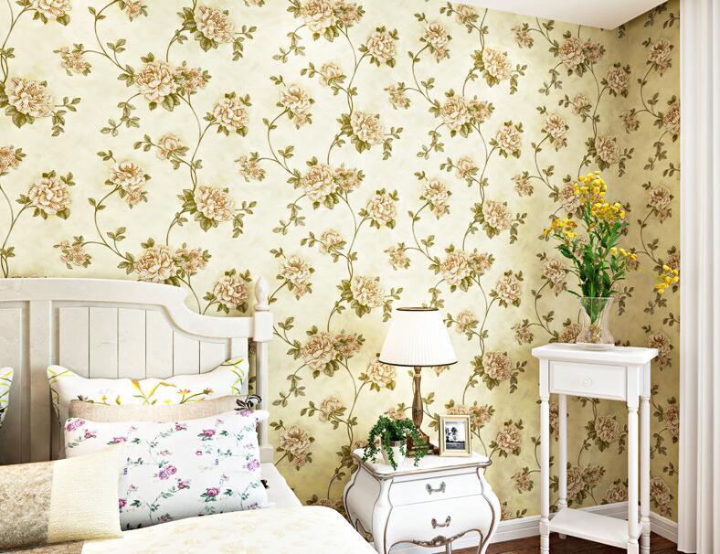 3d立体环保欧式田园无纺布壁纸 客厅电视背景墙大花墙纸卧室