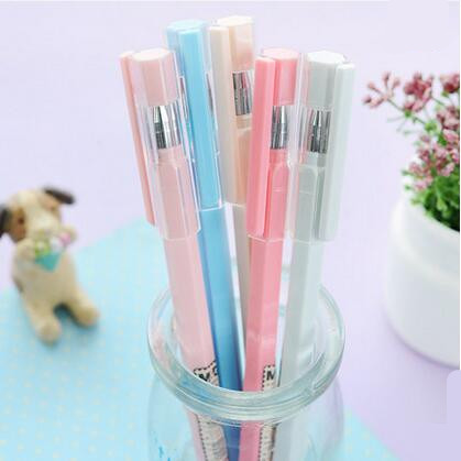 晨光文具中性笔裸色控黑色中性笔0.35 水笔 可爱创意