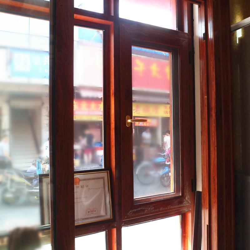 弘瑾门窗 平开木纹框铝合金窗 #120