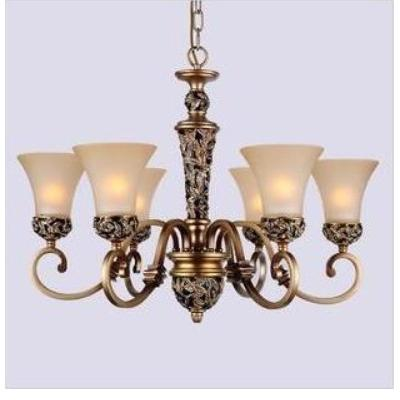 欧式灯具客厅灯卧室吊灯树脂灯铁艺吊灯6头客厅灯0004
