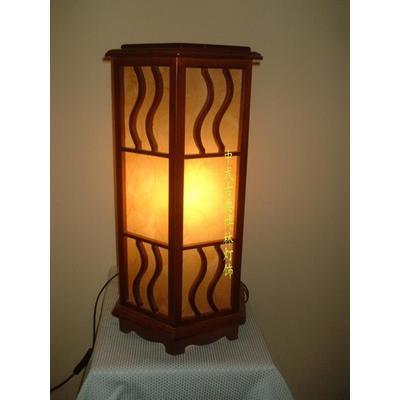【博林灯饰】中式台灯/古典台灯/木质羊皮灯/卧室灯/客厅灯