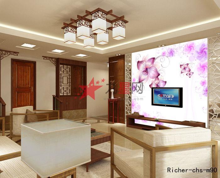 简约  墙纸 电视客厅背景墙  花卉 抽象  壁画 现代  卓麦森  壁纸