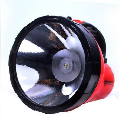 雅格充电式手电筒led手提探照灯