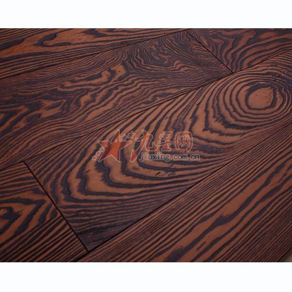 上海富丽家地板 实木仿古系列 榆木棕